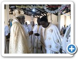 During the Elevation of Rev. Fr. Costantine Mbonabingi to a priestly order of an Archimandrite