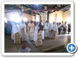 During the holy liturgy