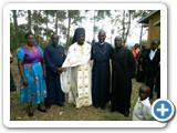 Archimandrite Mbonabingi Costantine with other clergy